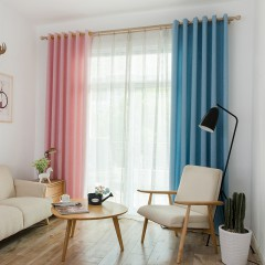 Bedroom Shades Solid Color Insulated Window Curtains
