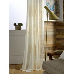 Vintage Embroidered Sheer Curtains