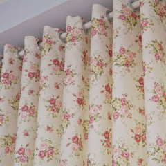 Country Curtains Valance Floral Rose Curtain and  Drapes Set