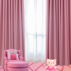 Living Room Solid Thermal Blackout Grommet Curtains and Drapes with Sheer