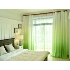 Living Room Darkening Roman Shades Ombre Curtain and Drapes Set with Sheer