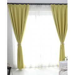 Room Darkening Shades Solid Linen Color Scandinavian Blackout Curtains
