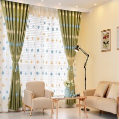 living room curtains Daisy window shades with sheers curtains and drapes Set