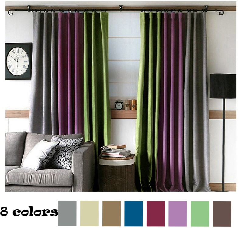 Room Darkening Curtains Solid Linen Blackout Burlap Curtains