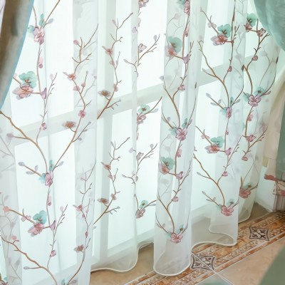 Country Curtains Floral and Color Block Roman Shades Curtain Set