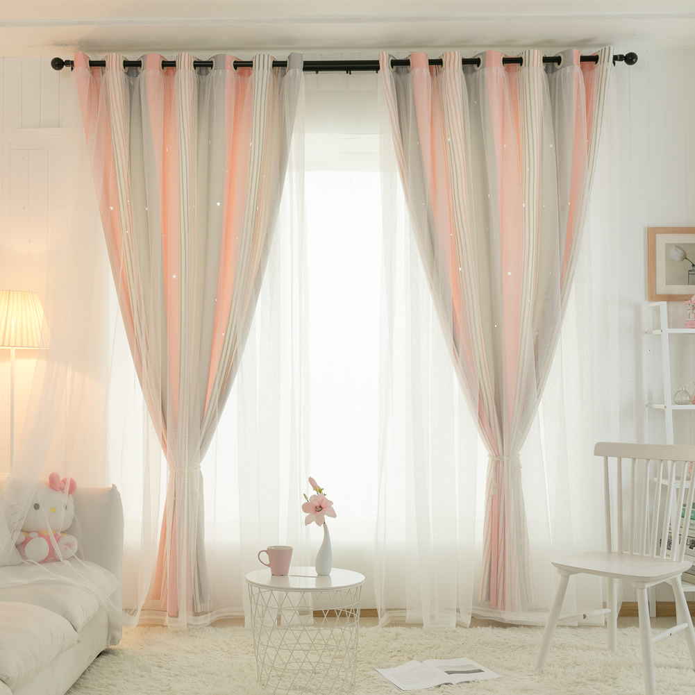 Hollow Star Curtains Essential Nursery Window D For