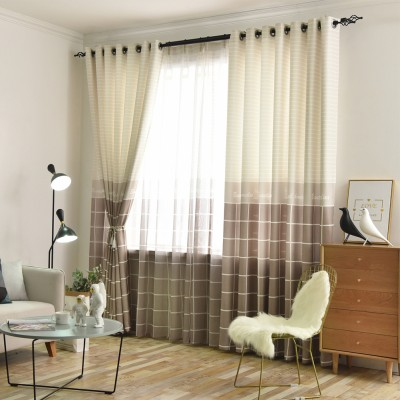 Plaid Pattern Lined Thermal Insulated Blackout/Room Darkening Grommet Window Curtains Custom Size