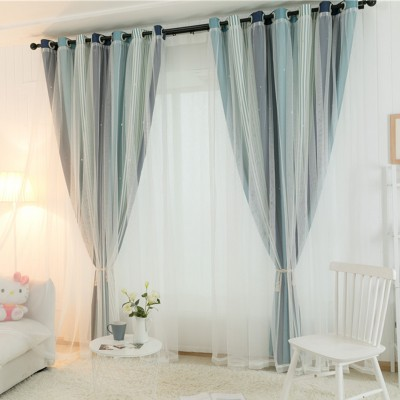 Hollow Star Curtains Essential Nursery Window Drapes for Star Wall Themed Kid's Room Blackout Draperies Custom Size