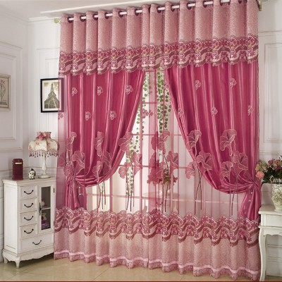 Luxury Curtains and Tulle for Living Room Blackout Curtains for Embossing Double layer Panels Custom Size