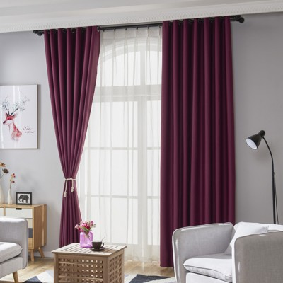 Blackout Curtains Room Darkening Draperies Textured Grommet Curtains for Window Treatment Custom Size|