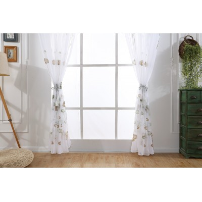 Sheer Curtains For Bedroom Voile Floral Lotus Window Curtains For Living Room Ready Panels